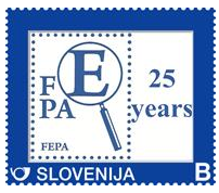 The Slovenian Post issued a stamp to commemorate the FEPA 25th anniversary