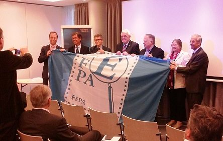 The FEPA flag goes to Berlin for the jury seminar